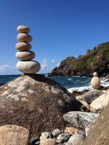 Coast path walking, granite boulders, cornwall's coast path, secret coves in cornwall