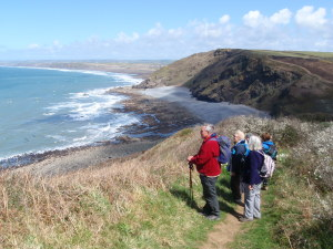Walking breaks with Budock Vean and Bedruthen Steps Hotels hiking in Cornwall on the south west coast path national trail